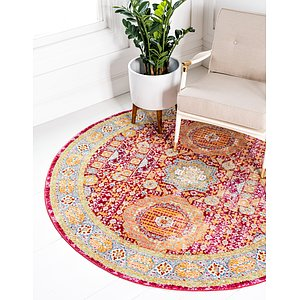 Unique Loom 6' x 6' Austin Round Rug