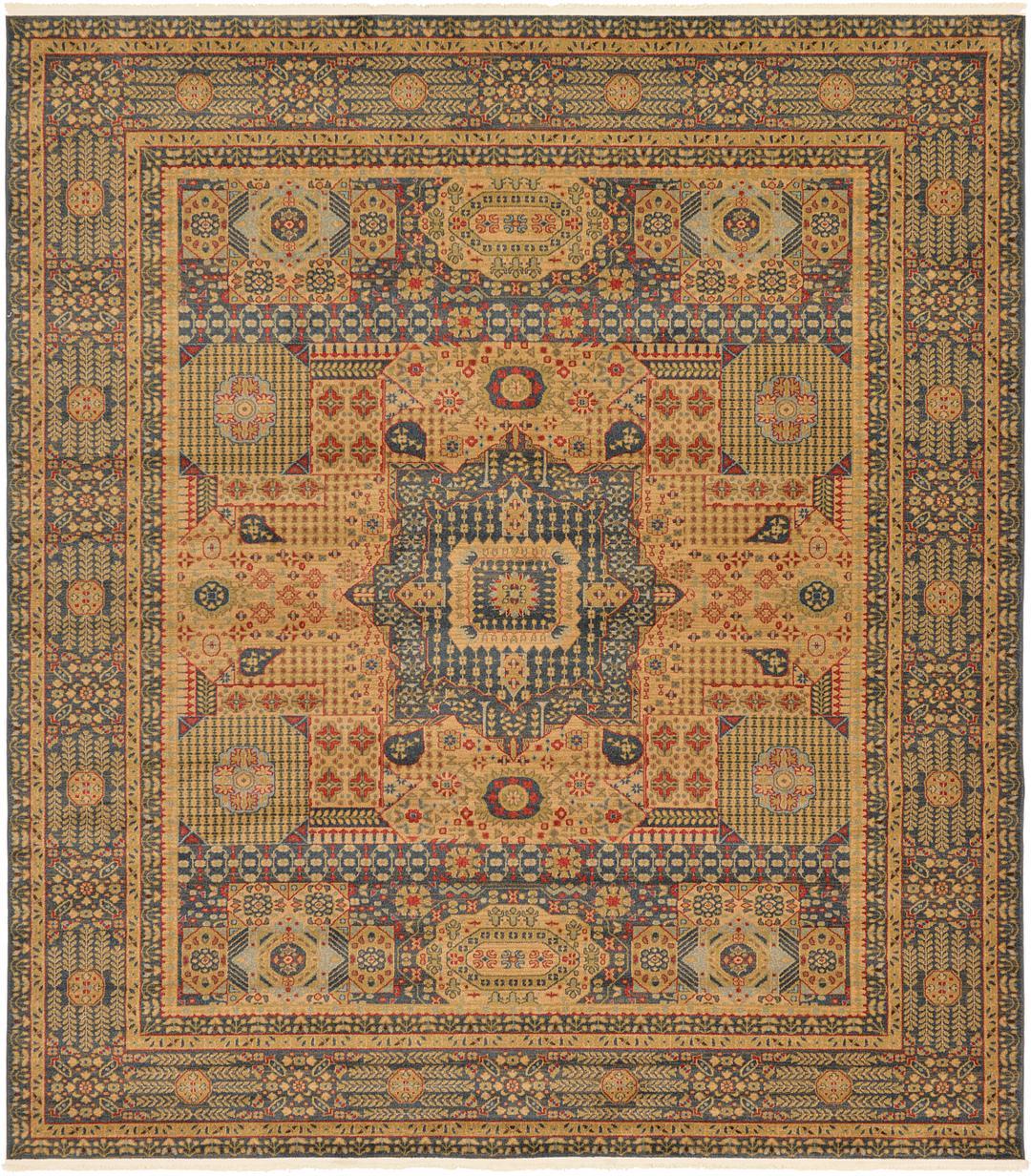 Blue 10 X 11 4 Amina Square Rug Area Rugs Rugs Com