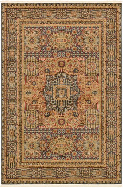blue 6 39 x 9 39 mamluk rug area rugs esalerugs