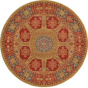 Unique Loom 6' x 6' Palace Round Rug