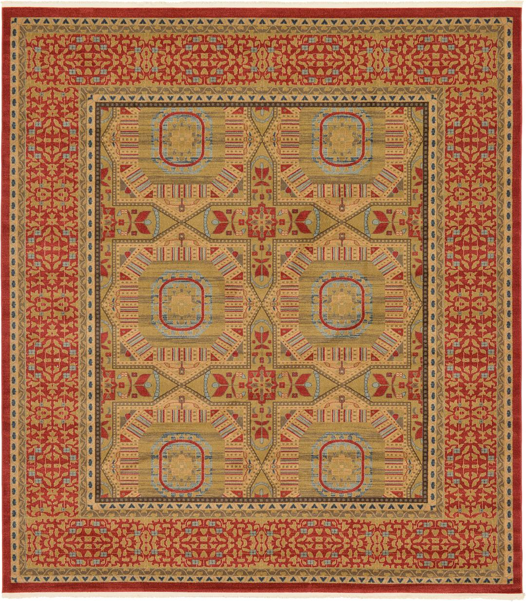 Red 10 X 11 4 Amina Square Rug Area Rugs Rugscom
