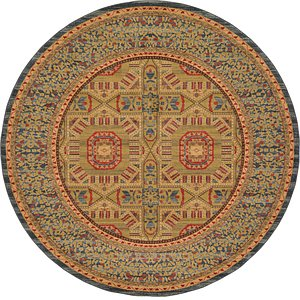 Unique Loom 8' x 8' Palace Round Rug