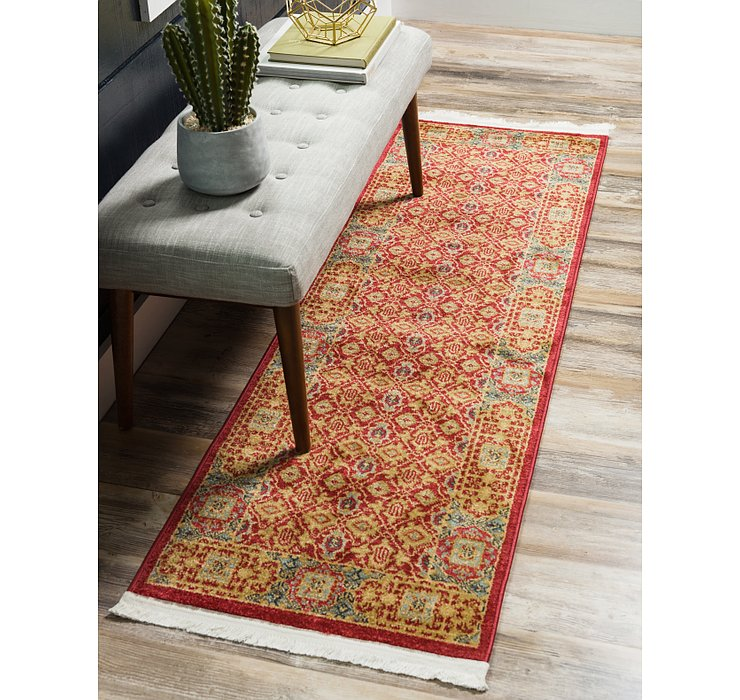 Red Amina Runner Rug