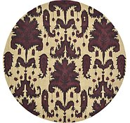 Link to 9' 10 x 9' 10 Ikat Round Rug