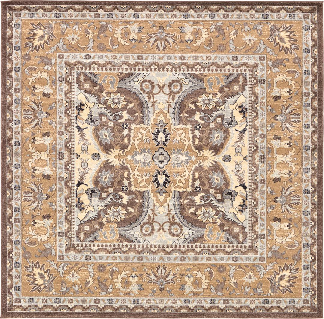 Brown 8 4 X 8 4 Heritage Square Rug Area Rugs Handknotted Com