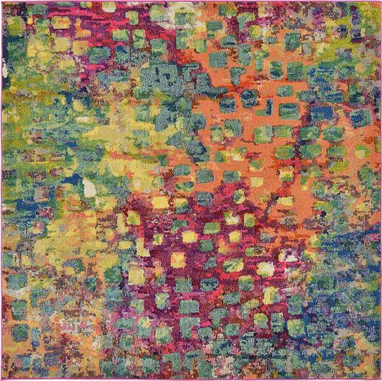 Multi 6 X 6 Barcelona Square Rug Area Rugs Esalerugs