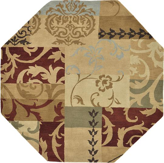 Elegant Multi 8 39 X Patchwork Octagon Rug Area Rugs Erugs