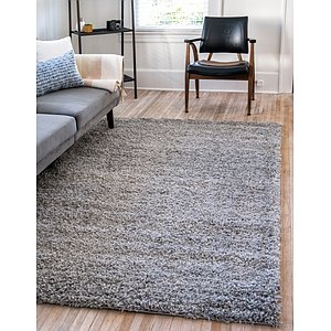 Unique Loom 5' x 8' Solid Shag Rug