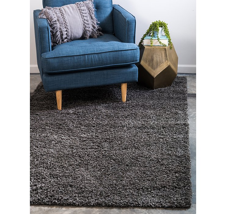 Graphite Gray Solid Shag Rug