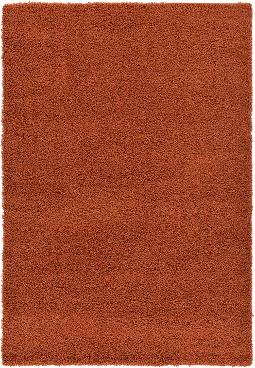 Rust Red 6 X 9 Solid Shag Rug Area Rugs Esalerugs