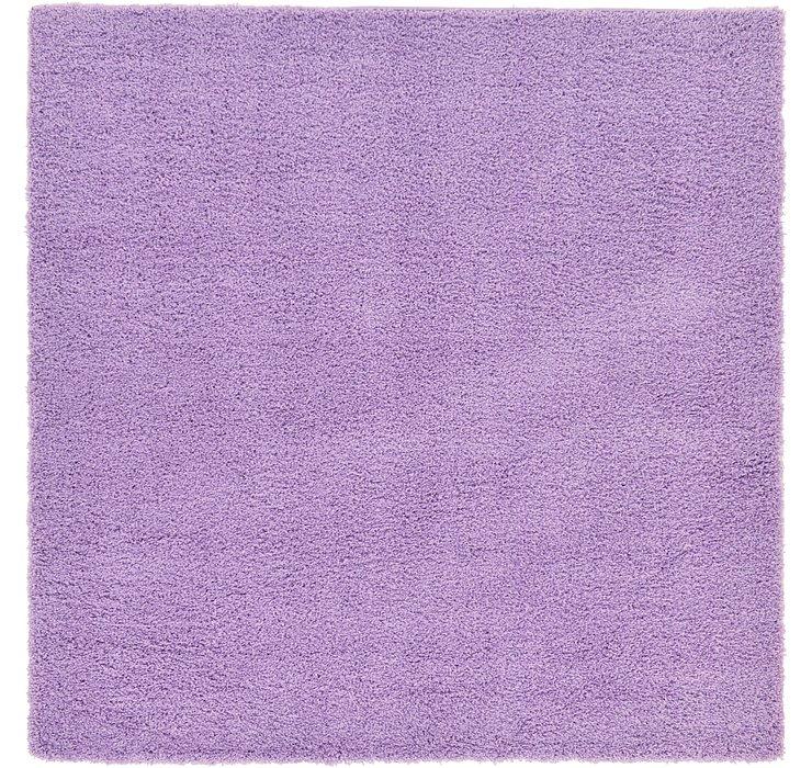 Lilac Solid Shag Square Rug