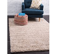 Link to Unique Loom 4' x 6' Solid Shag Rug