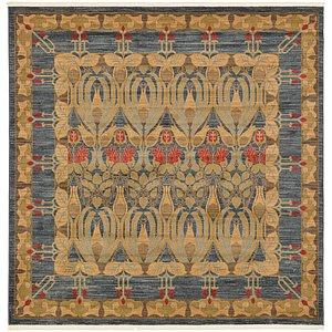 Unique Loom 8' x 8' Edinburgh Square Rug