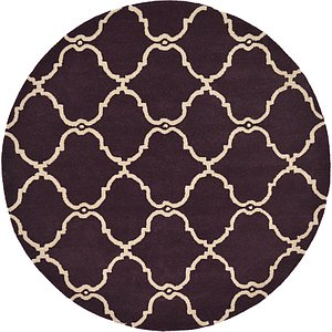All Rounds Purple Modern  Rugs