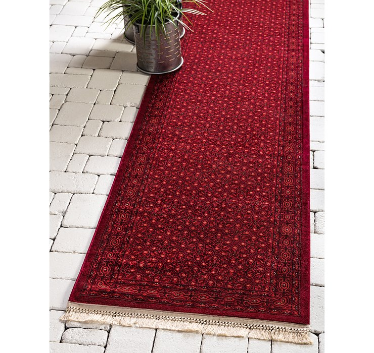 Red Bukhara Runner Rug