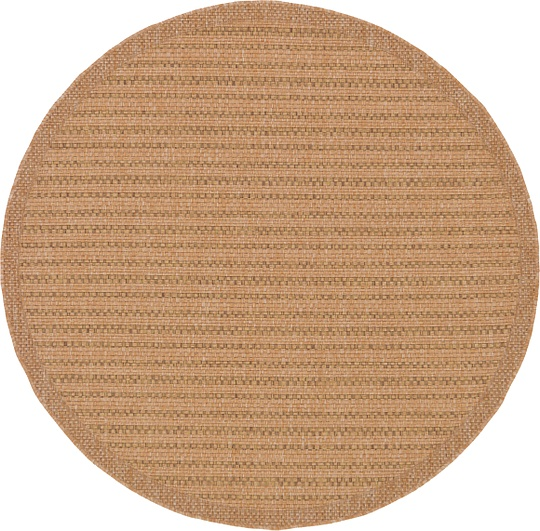 Light Brown 6 x 6 Outdoor Round Rug Area Rugs