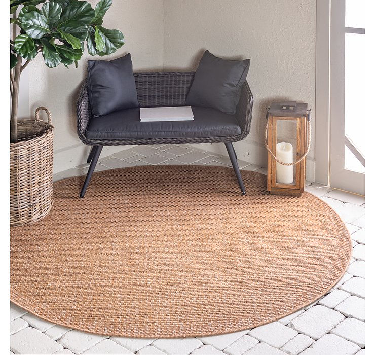 6' x 6' Outdoor Border Round Rug