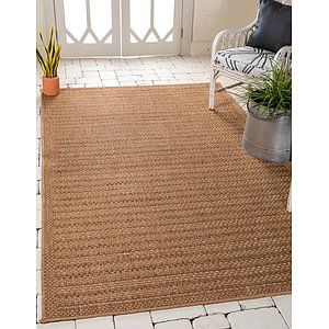 Unique Loom 5' 3 x 8' Outdoor Border Rug