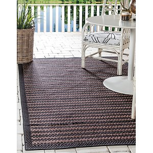 Unique Loom 6' x 9' Outdoor Border Rug