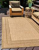 Unique Loom 4' x 6' Outdoor Border Rug thumbnail image 1