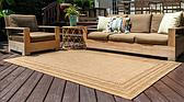 Unique Loom 4' x 6' Outdoor Border Rug thumbnail image 2