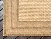 Unique Loom 4' x 6' Outdoor Border Rug thumbnail image 8