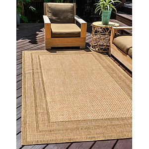 Unique Loom 2' 2 x 3' Outdoor Border Rug