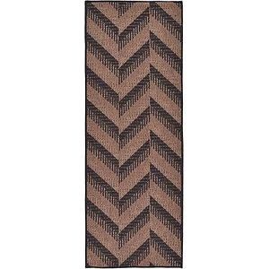 Unique Loom 2' 2 x 6' Outdoor Modern Runner Rug