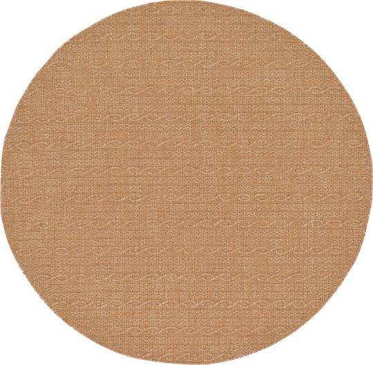 Light Brown 6 X 6 Outdoor Modern Round Rug Area Rugs