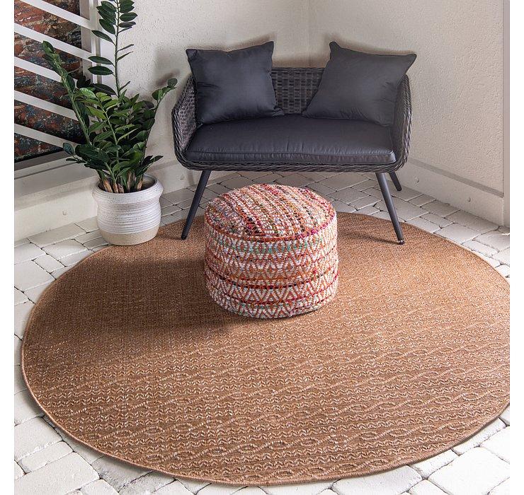 6' x 6' Outdoor Modern Round Rug