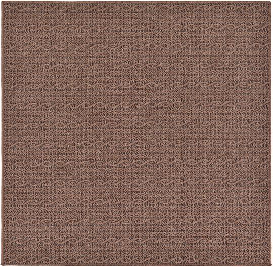 Brown 183cm x 183cm Outdoor Square Rug Area Rugs