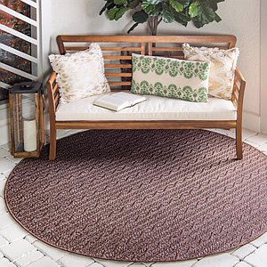Unique Loom 6' x 6' Outdoor Modern Round Rug