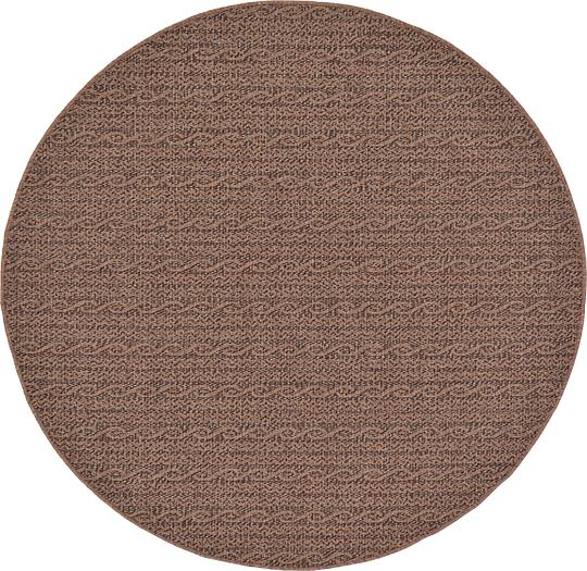 Brown 6 x 6 Outdoor Round Rug Area Rugs
