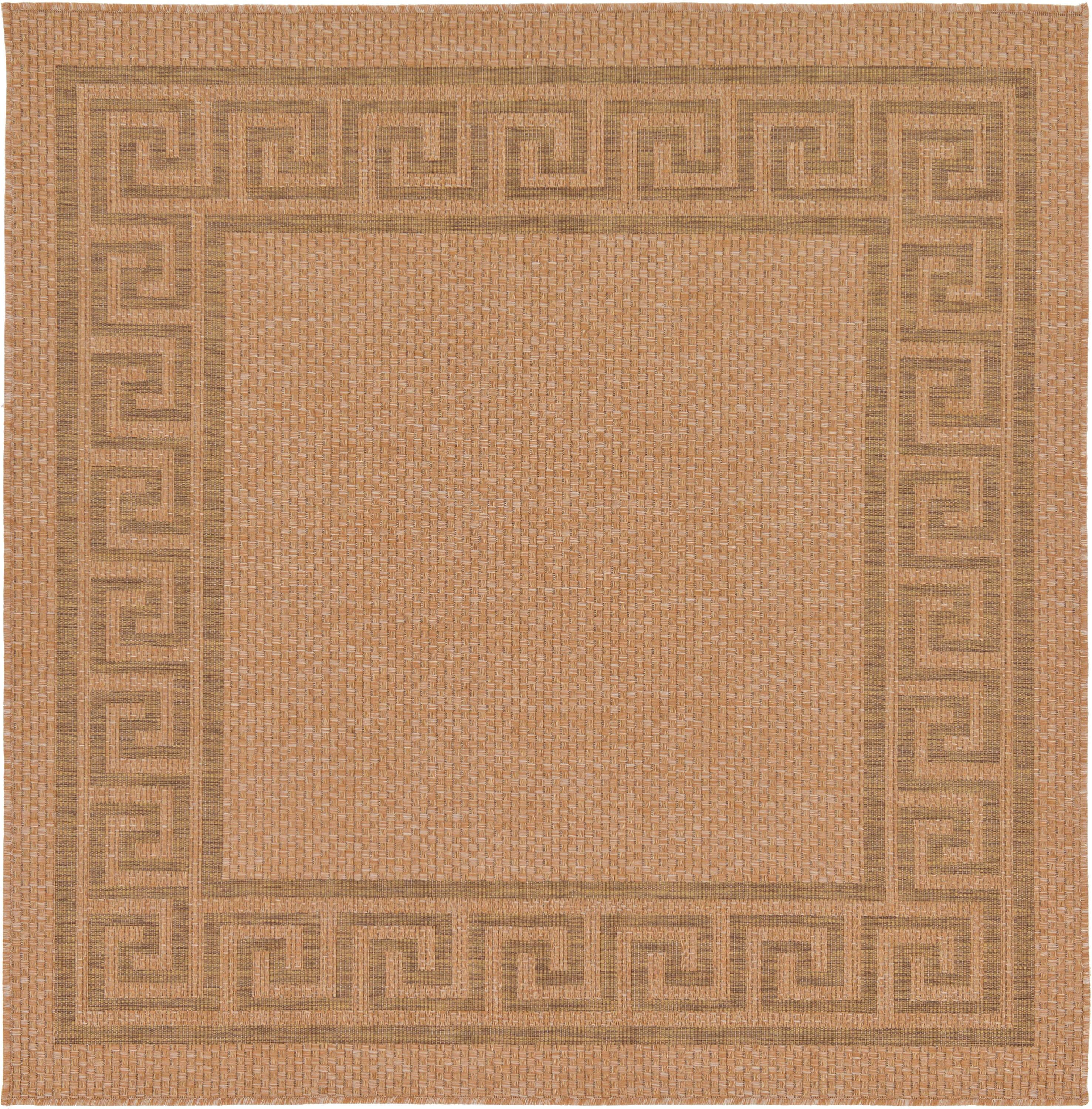 Outdoor Border Square Rug