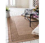 Link to Unique Loom 5' 3 x 8' Outdoor Border Rug