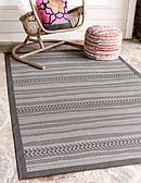 Unique Loom 6' x 9' Outdoor Border Rug thumbnail image 1