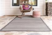 Unique Loom 5' 3 x 8' Outdoor Border Rug thumbnail image 3