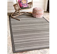 Link to Unique Loom 8' x 11' 4 Outdoor Border Rug