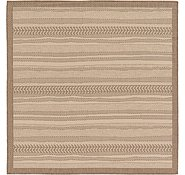 Link to 6' x 6' Outdoor Border Square Rug