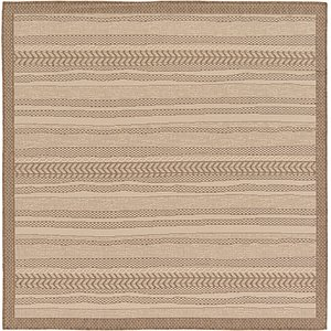 Unique Loom 6' x 6' Outdoor Border Square Rug