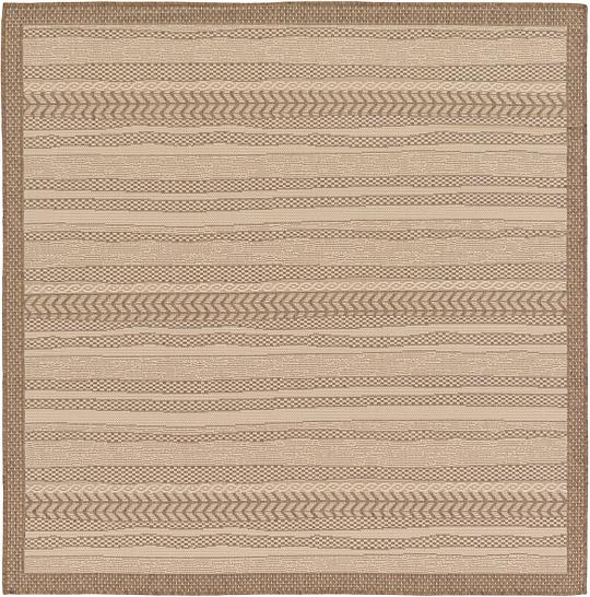 Beige 6 x 6 Outdoor Square Rug Area Rugs