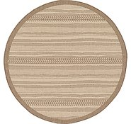 Link to 183cm x 183cm Outdoor Border Round Rug