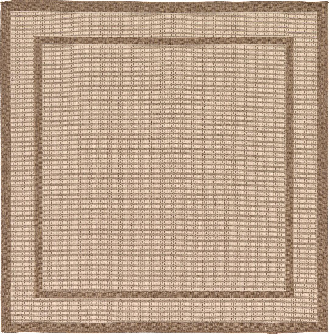 Beige 6 X 6 Outdoor Border Square Rug Area Rugs Handknotted Com