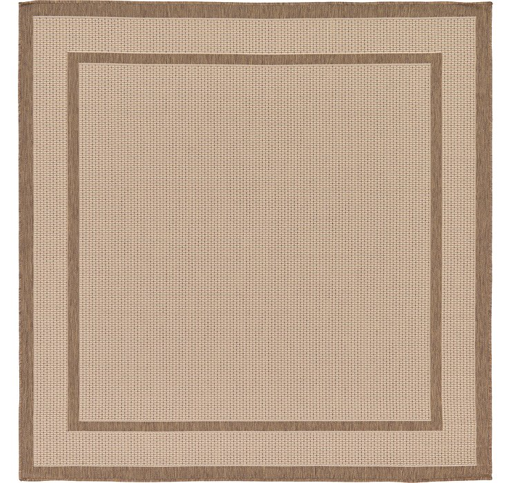 6' x 6' Outdoor Border Square Rug