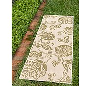 Link to Unique Loom 2' 2 x 6' Outdoor Botanical Runner Rug