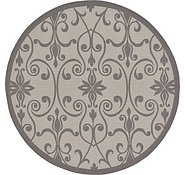 Link to 183cm x 183cm Outdoor Botanical Round Rug