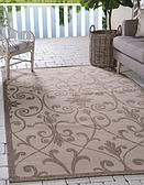 6' x 9' Outdoor Botanical Rug thumbnail image 1