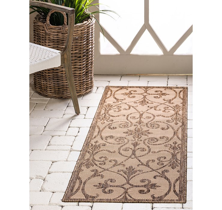Beige Outdoor Botanical Runne...