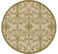 Link to 6' x 6' Outdoor Botanical Round Rug
