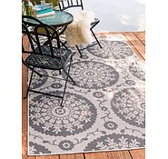 Link to Unique Loom 4' x 6' Outdoor Botanical Rug